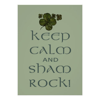 Keep Calm and Sham Rock! Poster