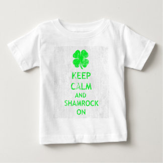 Keep Calm and Shamrock On DS Baby T-Shirt
