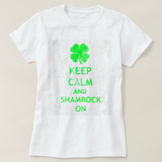 Keep Calm and Shamrock On DS T-Shirt