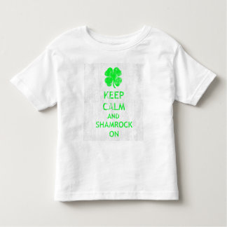 Keep Calm and Shamrock On DS Toddler T-Shirt