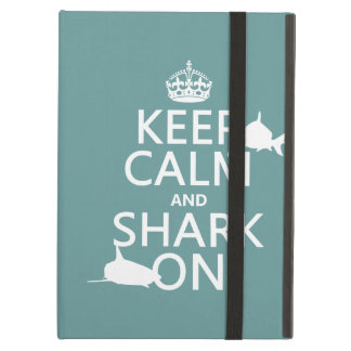 Keep Calm and Shark On (customizable colors) Case For iPad Air