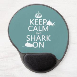 Keep Calm and Shark On (customizable colors) Gel Mouse Mat