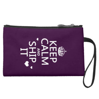 Keep Calm and Ship It hearts in any color Wristlet Purse