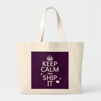 Keep Calm and Ship It hearts in any color Bags
