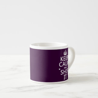 Keep Calm and Ship It (hearts) (in any color) Espresso Mug