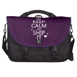 Keep Calm and Ship It hearts in any color Laptop Computer Bag
