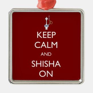 Keep Calm and Shisha On Christmas Ornament
