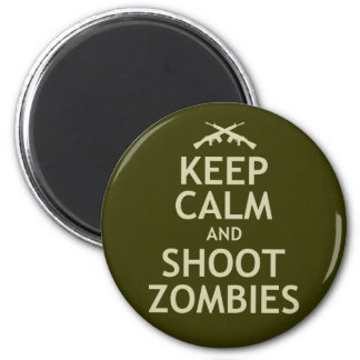 Keep Calm and Shoot Zombies Magnet