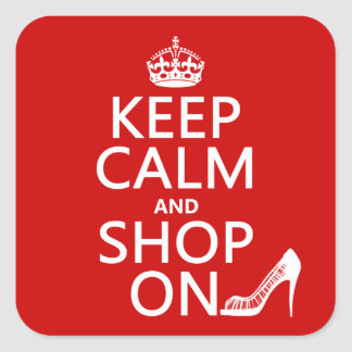 Keep Calm and Shop On - all colors Stickers