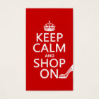 Keep Calm and Shop On - all colours Business Card