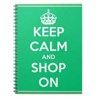Keep Calm and Shop On Notebook