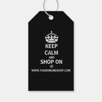 Keep Calm And Shop On W/QR Code Personalized