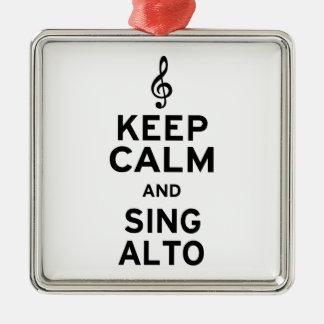 Keep Calm and Sing Alto Christmas Ornament