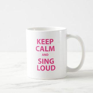 Keep Calm and Sing Loud Basic White Mug