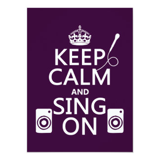 Keep Calm and Sing On (Karaoke) Card