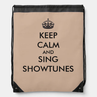Keep Calm and Sing Showtunes Backpacks