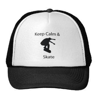 Keep calm and skate cap