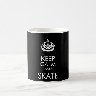 Keep calm and skate - change background colour coffee mug