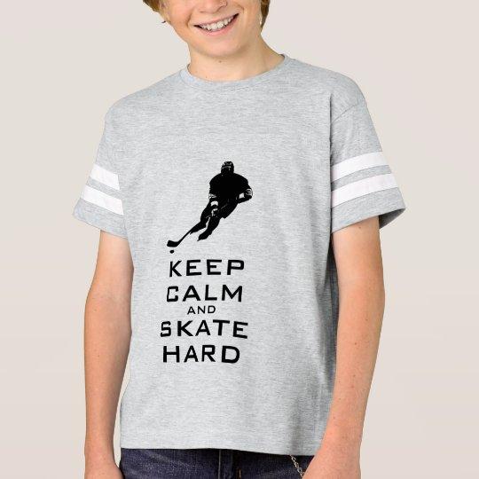 KEEP CALM AND SKATE HARD HOCKEY T-Shirt