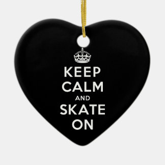 Keep Calm and Skate On Christmas Ornament