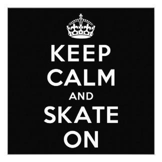 Keep Calm and Skate On Custom Invite