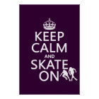 Keep Calm and Skate On (rollerskaters) Poster