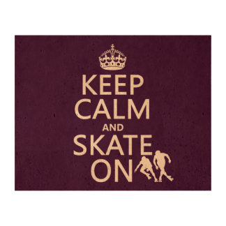 Keep Calm and Skate On (rollerskates) (any color) Cork Paper Prints