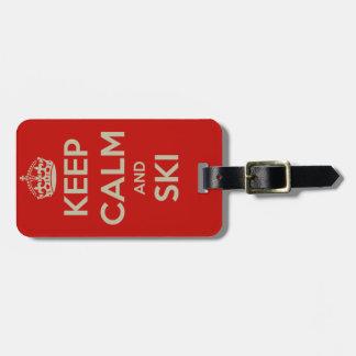Keep Calm and Ski - Luggage Tag