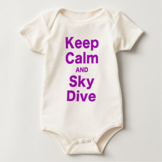 Keep Calm and Sky Dive Baby Bodysuit