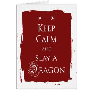 Keep Calm and Slay a Dragon Greeting Cards