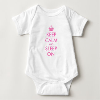 Keep calm and sleep on baby clothes baby bodysuit