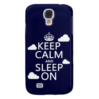 Keep Calm and Sleep On (customize color) Galaxy S4 Case