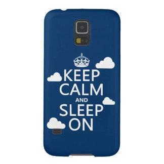 Keep Calm and Sleep On (customize color) Galaxy S5 Case