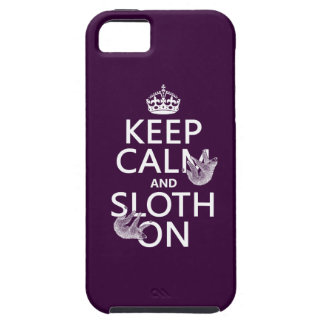 Keep Calm and Sloth On iPhone 5 Case