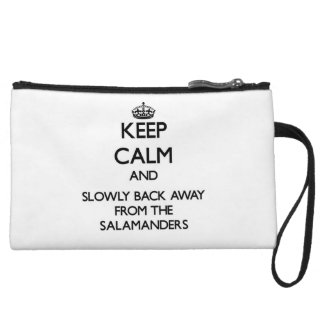 Keep calm and slowly back away from Salamanders Wristlet Clutches