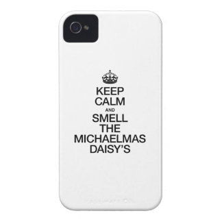KEEP CALM AND SMELL THE MICHAELMAS DAISY'S iPhone 4 COVER