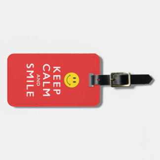 KEEP CALM AND SMILE LUGGAGE TAG