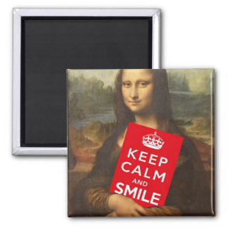 Keep Calm And Smile Magnet