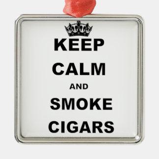 KEEP CALM AND SMOKE CIGARS.png Christmas Ornament