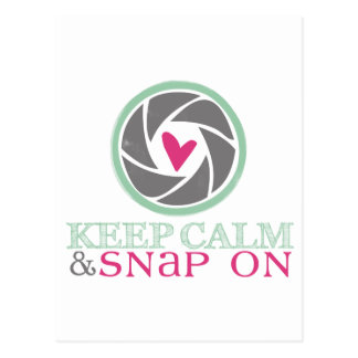Keep Calm and Snap On Postcard