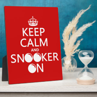 Keep Calm and Snooker On (all colors) Plaque