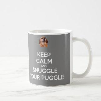 Keep Calm and Snuggle Your Puggle MUG - Gray