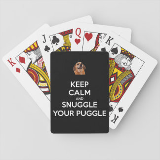 Keep Calm and Snuggle Your Puggle - Playing Cards! Poker Deck