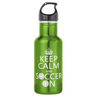Keep Calm and Soccer On 532 Ml Water Bottle