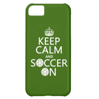 Keep Calm and Soccer On iPhone 5C Case