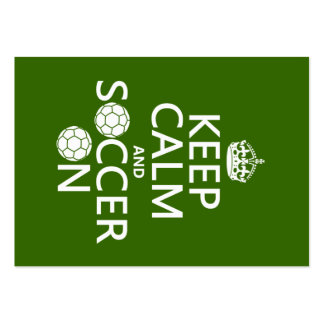 Keep Calm and Soccer On Pack Of Chubby Business Cards