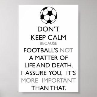Keep Calm and Soccer Print