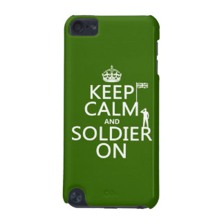 Keep Calm and Soldier On UK flag any color iPod Touch 5G Case