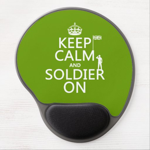Keep Calm and Soldier On (UK flag)(any color) Gel Mouse Pads