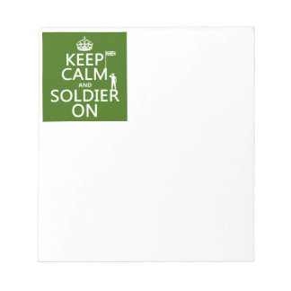 Keep Calm and Soldier On (UK flag)(any color) Notepad